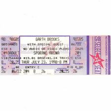 GARTH BROOKS Full Concert Ticket Stub SPOKANE WASHINGTON 7/23/98 ARENA Rare