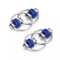 2 Pcs Of Blue Bike Chain Fidget Toy For Stress Relief