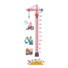 cartoon Tower kids height scale tree wall decals living room DIY Wall sticker