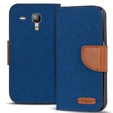 Handy Tasche Samsung Galaxy S3 Mini Book Case Hülle Klapphülle Flip Cover Blau