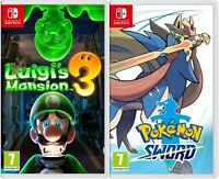 Switch Pokemon Sword and Luigi's Mansion 3 bundle