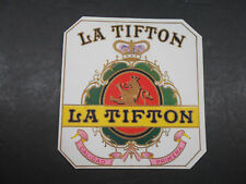 VINTAGE ANTIQUE LA TIFTON CIGARS EMBOSSED CIGAR BOX LABEL RETRO DECOR TOBACCIANA