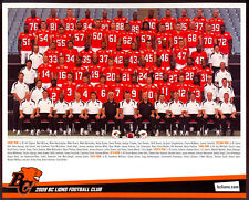 2009 CFL BC lions Team issue Orig 8X10 TEAM PHOTO w/ Geroy Simon Wally Buono +++