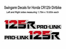 Swingarm Decals for Honda CR125 dirtbikes     CR 125 CR125r 125r