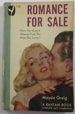 ROMANCE FOR SALE MAYSIE GREIG AUG 1947 BANTAM #110 1ST PAPERBACK ED