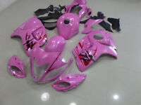ABS Fairings Plastic Bodywork Kit for08-18 Suzuki GSX1300R Hayabusa Metalic Pink