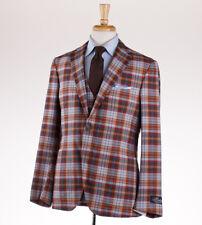 NWT $3995 BELVEST 3-Piece Multicolor Plaid Lightweight Wool Suit 40 R (Eu 50)