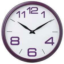 Reloj De Pared premier Housewares, Marco De Plástico Púrpura