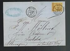 1880 Beaune Cote D'Or France to Fulda Hesse Germany Worldwide Postal Cover