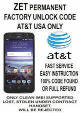 Unlock Code  ZTE T-Mobile AT&T Cricket US MetroPCS & Worldwide CLEAN IMEI