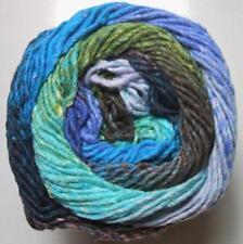 Noro Taiyo 124 Lot A Cotton Silk Wool Yarn Blue Seafoam Purple Green Brown