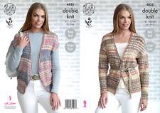 King Cole Ladies Double Knitting Pattern Easy Knit Cardigan & Waistcoat 4855