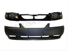 01-04 FORD MUSTANG GT BUMPER HEADER PANEL HEADLIGHT 4PC
