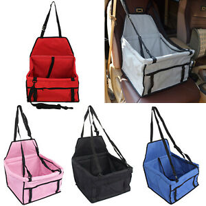 Folding Pet Dog Cat Car Seat Safe Travel Carrier Kennel Puppy Handbag Sided Bag