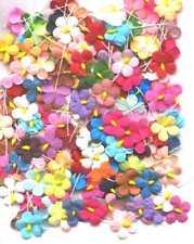 200 Paper FLOWERS 17mm MPFF26 BULK PACK Kids Craft Scrapbooking Cardmaking