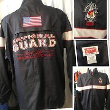 XL National Guard Official Recruit Sustainment Program Jacket Windbreaker w/Flag