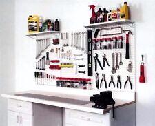 "Pegboard Garage Tool & Storage Kit With Locking Peg Hooks - 72"" Wide Tuff Poly !"
