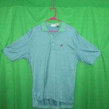 The Holmes Store Men's Large Polo Blue/Green  Stripes 100% cotton   Lobster