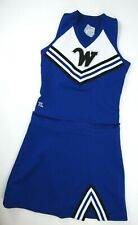"""Real Cheerleader Uniform Outfit Costume Sizes Youth 26-36"""" Top 22-30 Skirt PAW"""