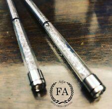 2 Pair Crystal Beads Chopsticks Stainless Steel Made Elegant Kitchen Dinner Use