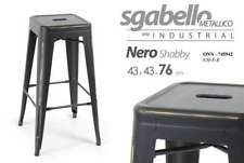 SGABELLO METALLICO SERIE INDUSTRIAL NERO SHABBY 43*43*76 CM TOLIX ONN-745942