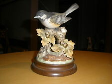 Gallery Birds By Gorham Blackcap Chickadee Porcelain with Stand