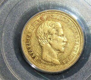 Guatemala: Republic gold 4 Pesos 1862-R AU50 PCGS