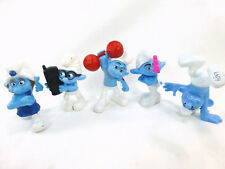 Smurf McDonalds Happy Meal 2011 3in Figures Lot of 5