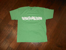 NEW Unbranded Hawaiian Flower T-Shirt Size M Green MADE IN THE USA