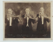 SUPER Orig PHOTO Max Bradfield's Versatile Band Horns Signed San Francisco 1925