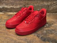 Nike Air Force 1 Low '07 LV8 'Triple Red' Sneakers (CW6999-600) Men's Size 10