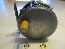 Rare Vintage 1904 RHW Hardy 4 Inch Wide Perfect Salmon Fly Reel with Line Guard