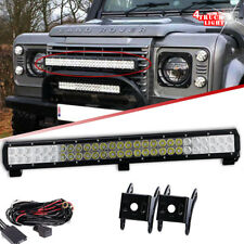 25inch 162W LED Light Bar Combo+Wiring Kit for Land Rover Defender Front Bumper