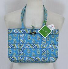 NWT! Vera Bradley Small Tic Tac Tote Bag Bermuda Blue Paisley Brand New! 13 x 8
