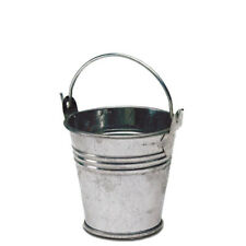 "2.5"" Tin Pail Silver Tin Pot Small Tin Buckets Buckets With Handles"
