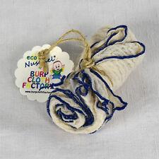 Eco-Nuschel Burp Cloth / Bib with Blue Edges | by Burp Cloth Factory