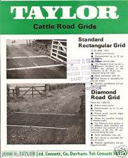 Farm Equipment Brochure - Taylor - Cattle Road Grid Guard Cow (F3691)