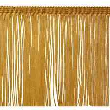 "6"" GOLD Chainette Fabric Fringe Lampshade Lamp Costume Trim by the Yard"