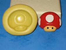 Mario Brothers Mushroom Push Mold Food Safe Silicone A144 CakeTopper Chocolate