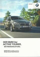 BMW 2er ACTIVE TOURER F45 Betriebsanleitung 2016 Bedienungsanleitung Bordbuch BA