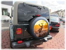HIRSCH 60cm Reifencover AUFKLEBER Reserverad Honda Suzuki Vitara Samurai Jimny