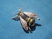 Bee Brooch Beautiful Costume Jewellery Enamel and Gold Metal