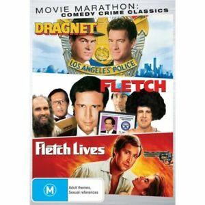 DRAGNET + FLETCH + FLETCH LIVES DVD NEW R4 Chevy Chase Comedy Crime Classics