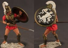 Tin toy soldiers  painted 54 mm Greek Hoplite with spear