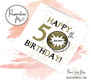 50th Present Gift Idea 50th Birthday Surprise Card. Scratch Off Reveal 50 Years