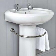 ACCIAIO Inossidabile Argento Anello circolare sotto lavello fino a 4 Porta Asciugamani Salvaspazio