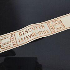 Etiquette LU Ancien Boîte Lefèvre Utile Biscuit Glacés Vanille 1900 49x6,5 cm