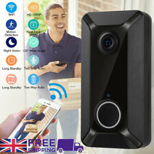 Smart WiFi Doorbell Chime Camera Video Wireless Remote Door Bell CCTV Phone APP