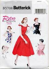 BUTTERICK SEWING PATTERN 5708 MISSES SZ 6-14 RETRO '53 ROCKABILLY STYLE DRESS
