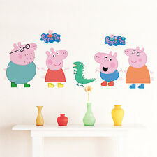 Peppa Pig and family wall stickers brand new (7 stickers)